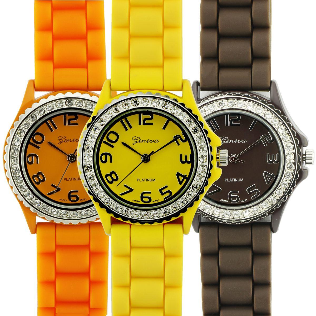 Geneva Platinum Summer Shine Ladies 3 Watch Bundle