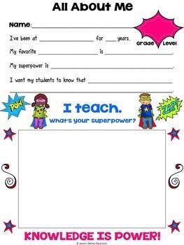 Meet The Teacher Meet The Teacher Template Meet The Teacher School Leadership
