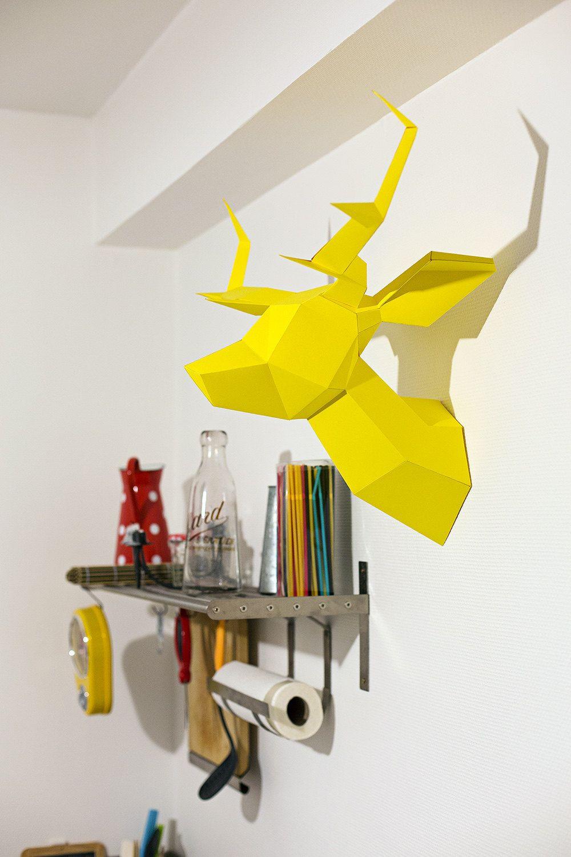 Foldeer Jaune - Origami/Maquette de Tête de Cerf. €55,00, via Etsy ...