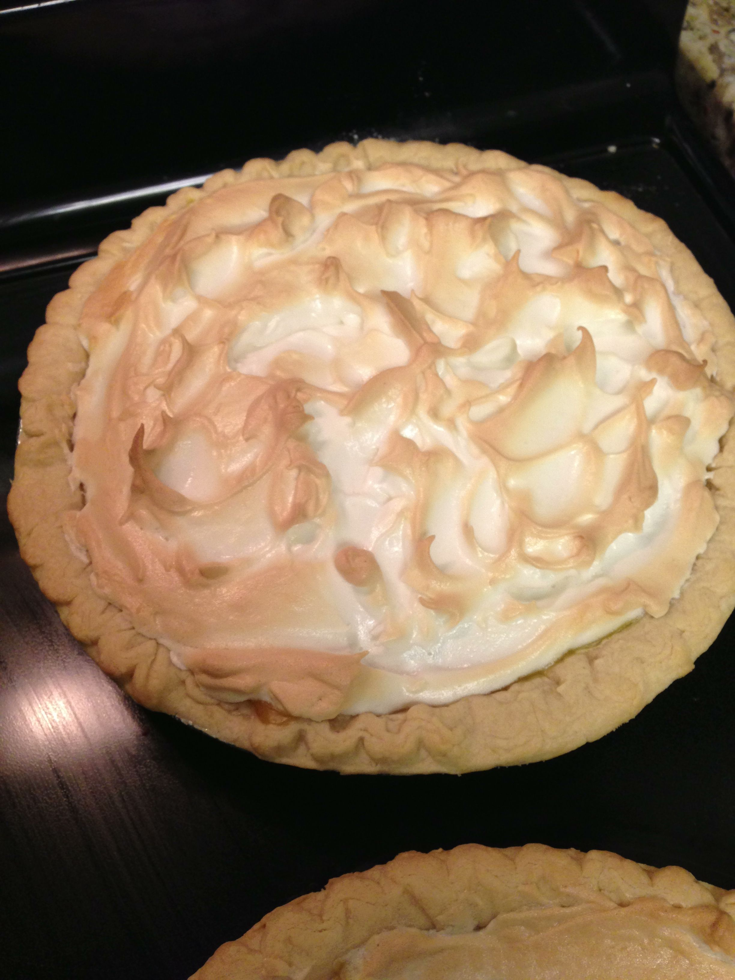 Homemade lemon meringue