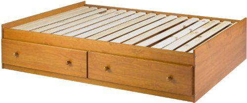 100% Solid Wood Kansas Twin Mate's Platform Storage Bed b...…