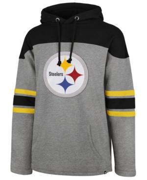 sale retailer ab6fb 4a4af 47 Brand Men's Pittsburgh Steelers Huron Hoodie - Gray XXL ...