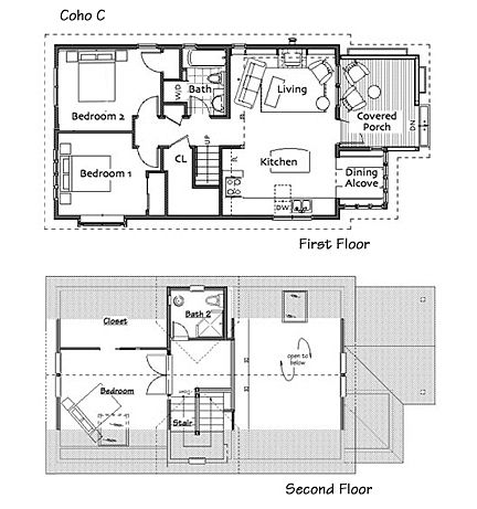 Small Homes By Ross Chapin Architects Cottage Floor Plans House Floor Plans Small House