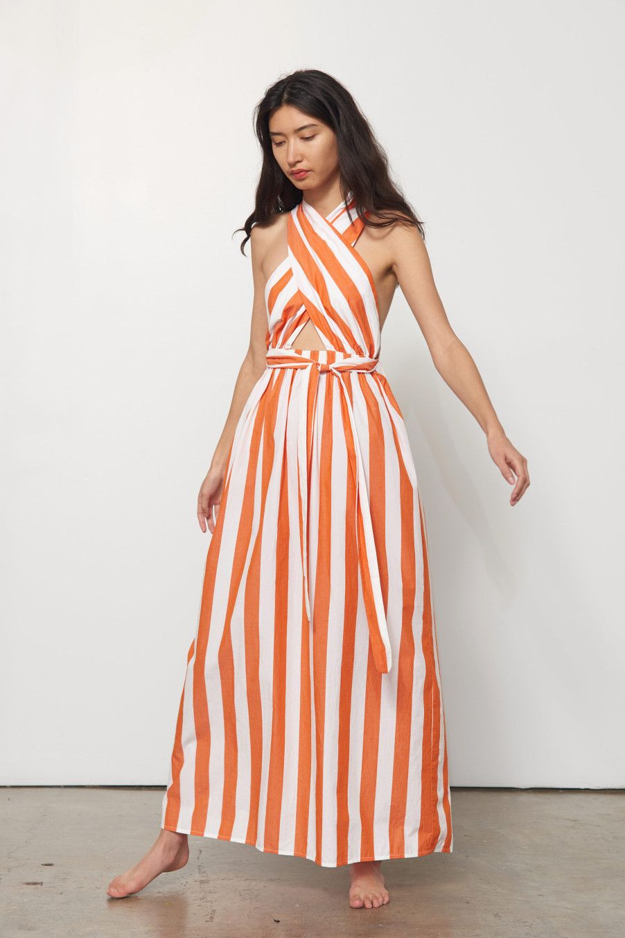 621a41c46748 ROSARIO DRESS #MaraHoffman Church Attire, Beach Wear Dresses, Resort Wear,  Striped Dress