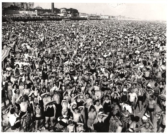It's official! Happy #FirstDayofSummer.    Weegee, Coney Island, 1940