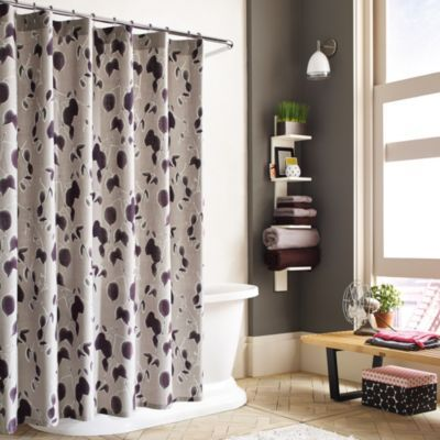 Buy Kenneth Cole Reaction Home Shades Shower Curtain From Bed Bath Beyond Fabric Shower Curtains Floral Shower Curtains 96 Inch Shower Curtain