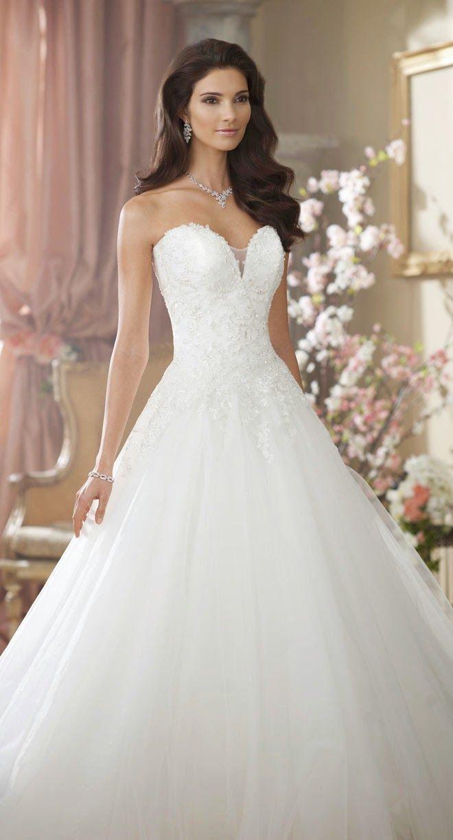 Herzcorsage mit Tüllrock, ein romantischer Look für Ihr #Brautkleid ...