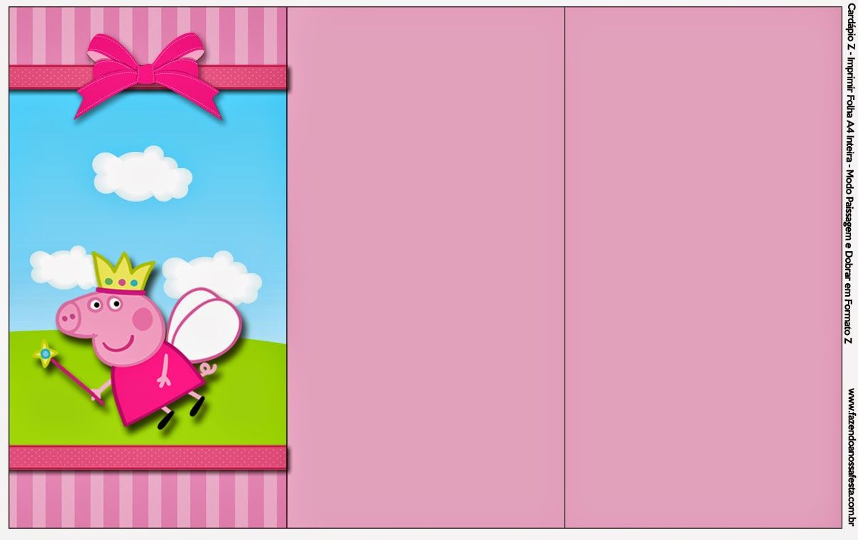 peppa pig fairy free party printables images and backgrounds