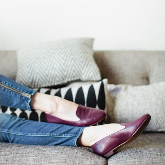 Madewell teddy loafers burgundy size 9 Light wear/scuffs to tops and insoles. Moderate wear to outer soles. Madewell Shoes Flats & Loafers