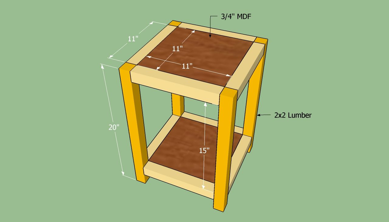 How To Build An End Table Howtospecialist How To Build Step