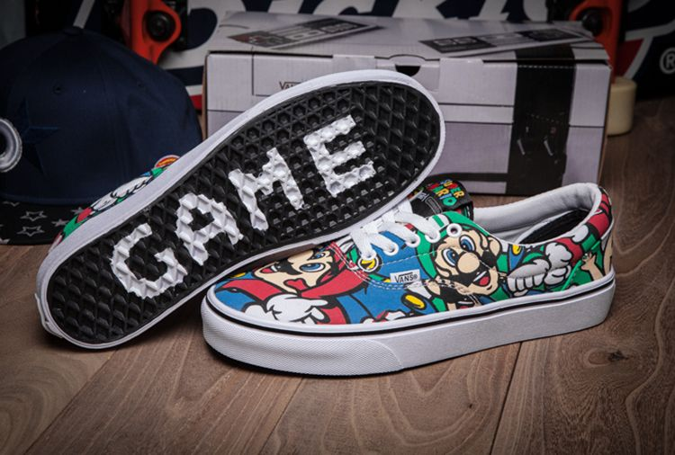 Vans high Sneakers weiß, Super Mario