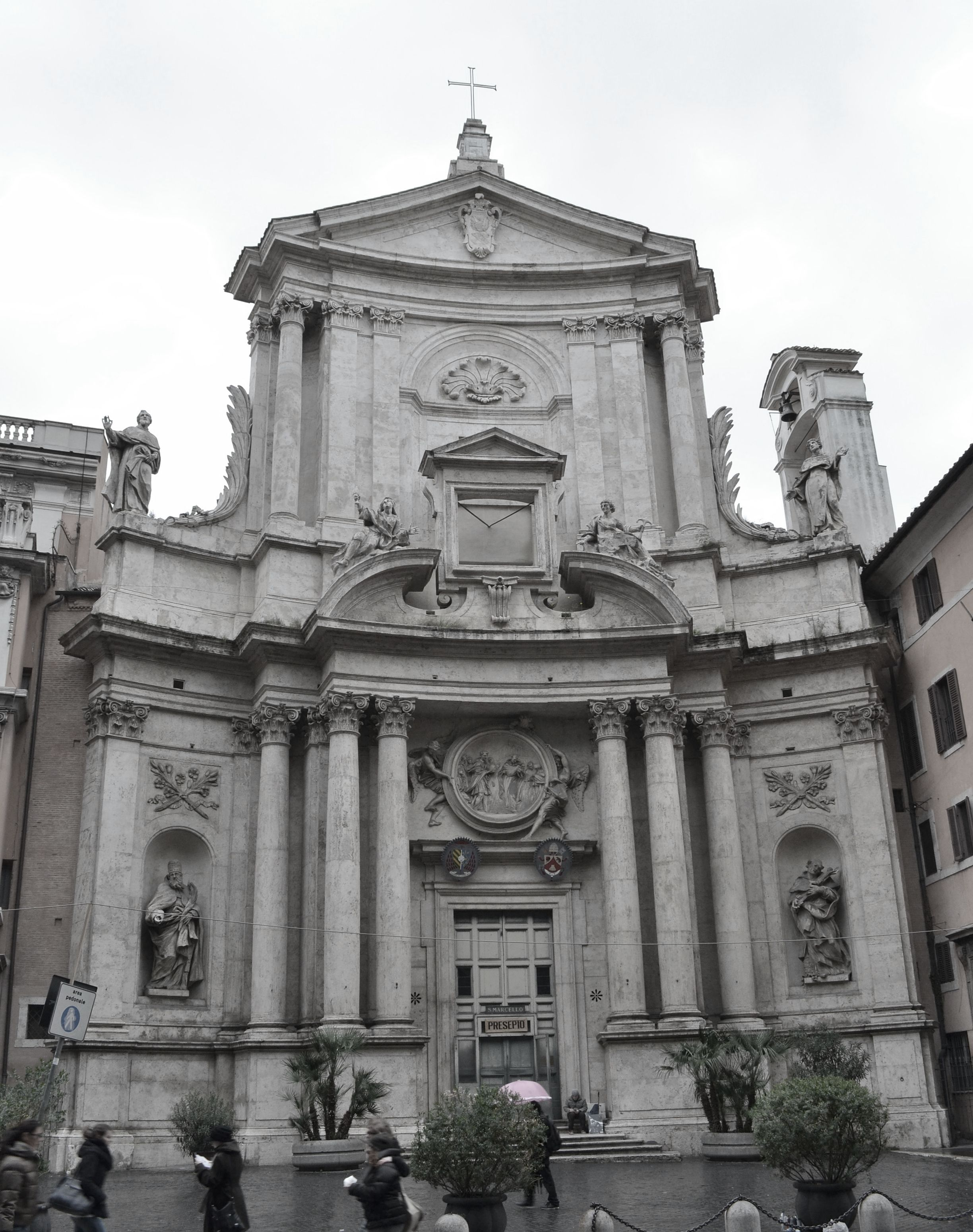 italian late baroque architecture facade of the s