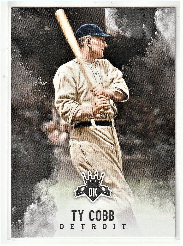Baseball trading cards ty cobb baseball trading cards