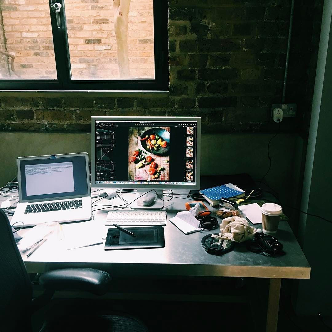 #behindthescenes #cookbook #shootday - edit suite