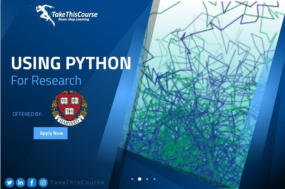 Using Python For Research In 2020 Free Online Courses Research Skills How To Use Python