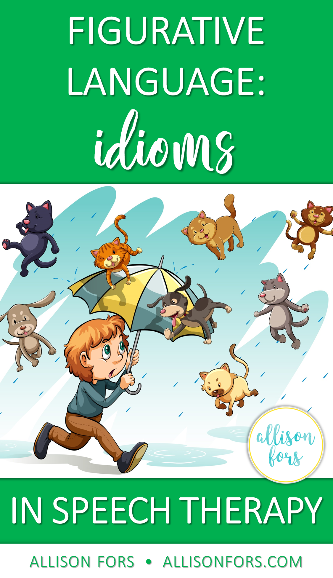 Figurative Language Idioms In Speech Therapy