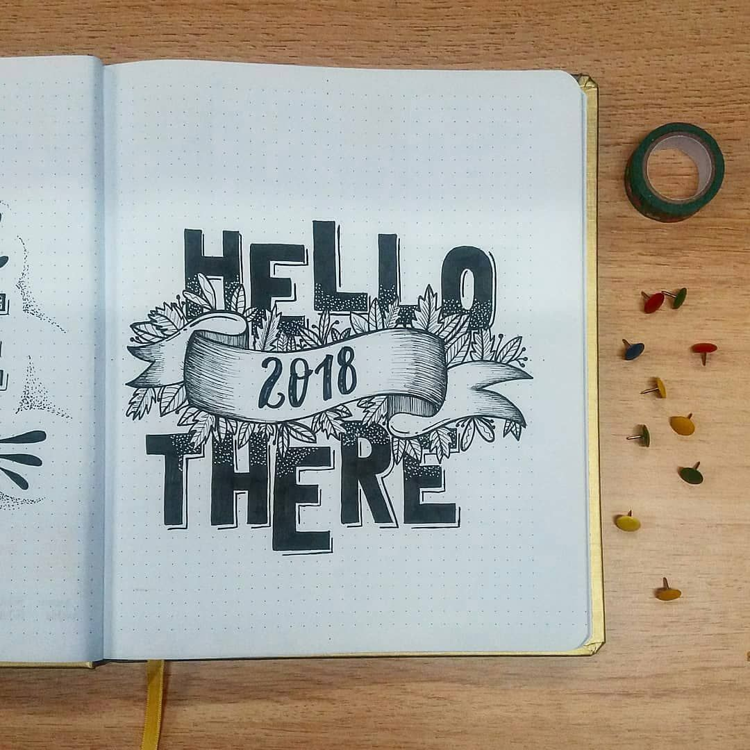 Bullet journal yearly cover page. @50drog | Journaling ...