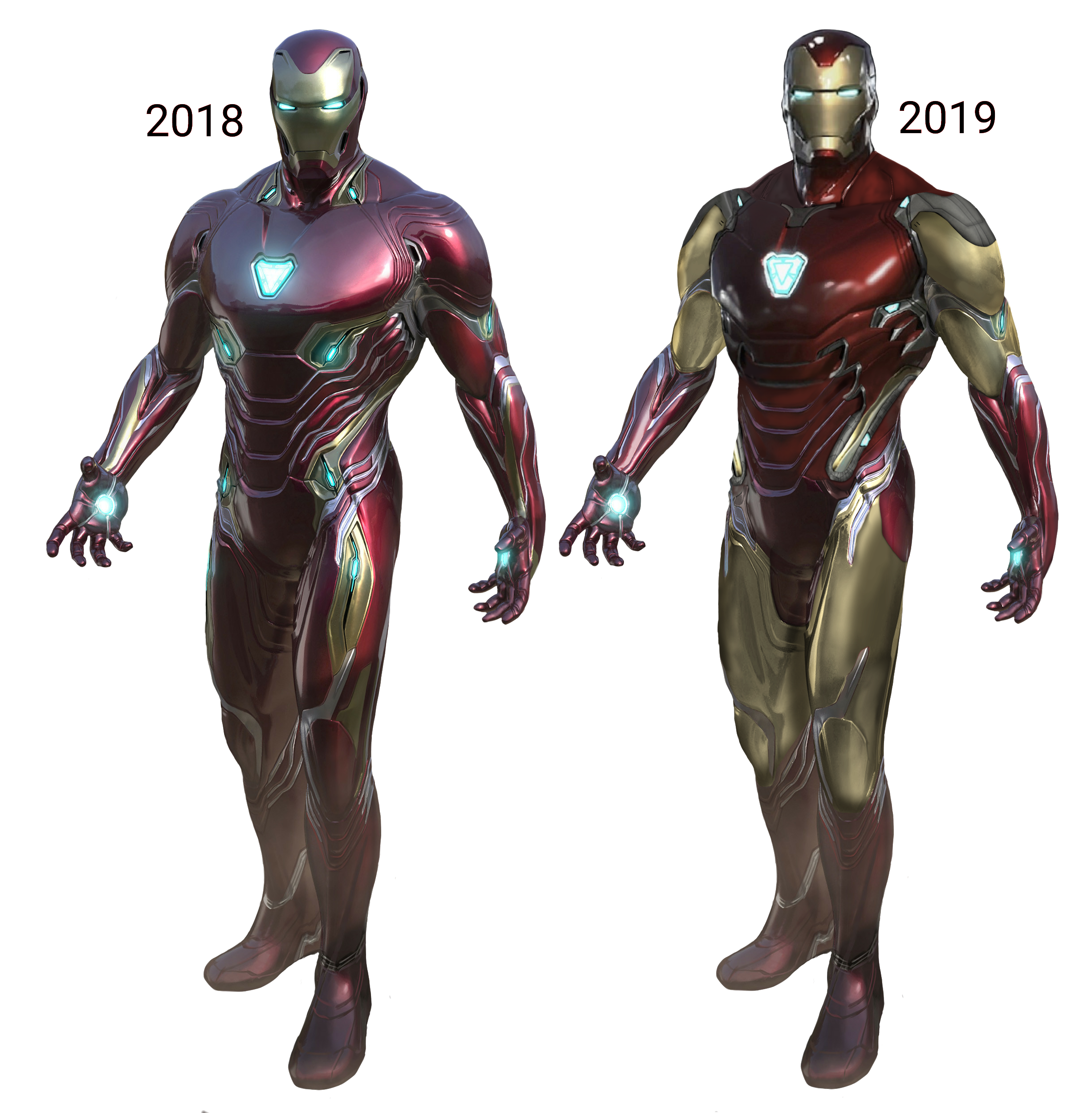 Iron man look then V/S now: