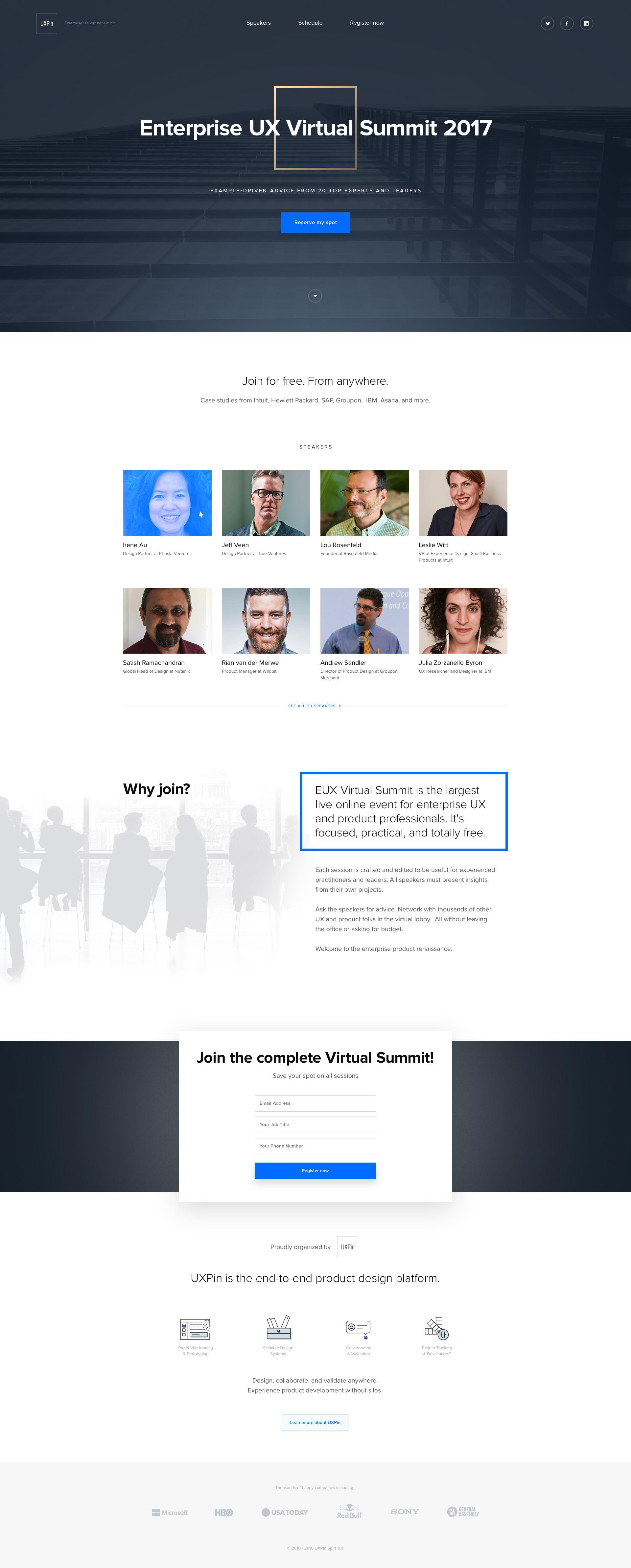 Virtualsummit Lp Virtual Summit Dribbble Design Web Design
