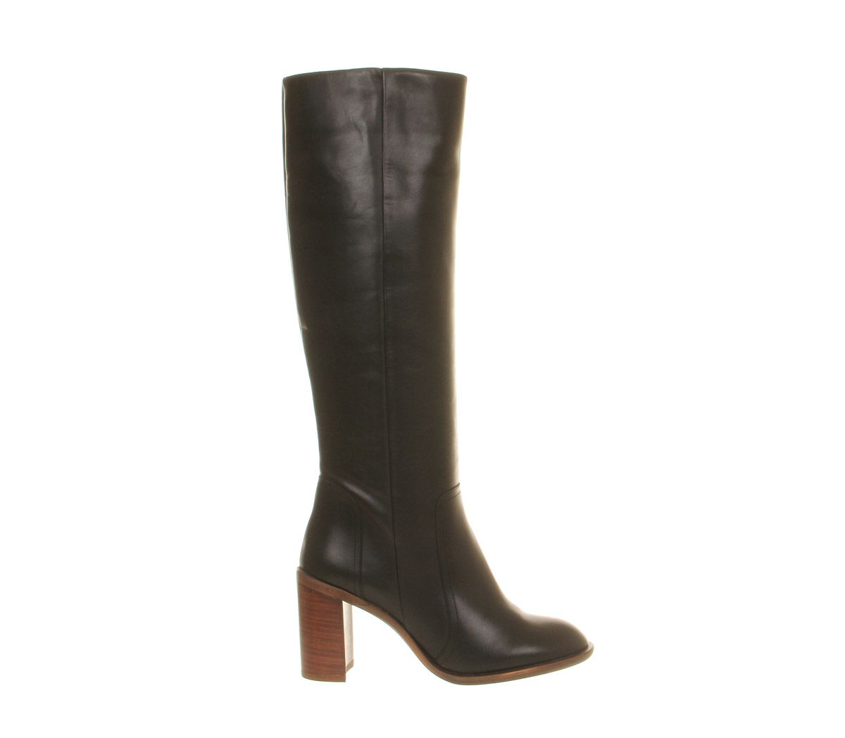 7ba93e91f68 Daily Office Nala Clean Block Heel boots Black Leather ZA77813 ...