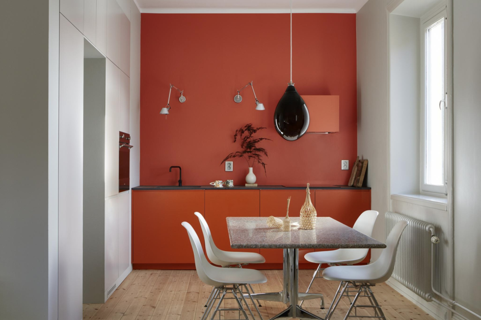 Rood als hoofdtint in je interieur? – woonblog | Wand/Farbe/bilder ...