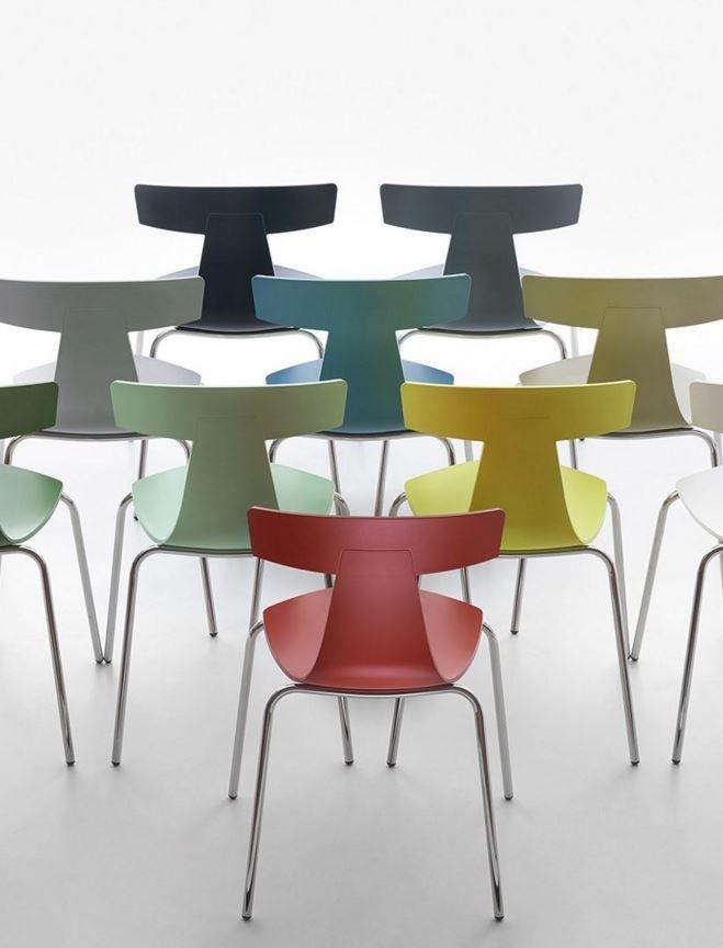 Sedia Da Cucina Plastica.Stackable Polypropylene Chair Remo Plastic By Plank Design