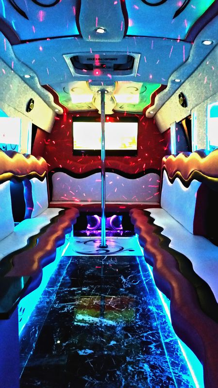 Pink Party Bus Party Bus Quince Prom Birthday