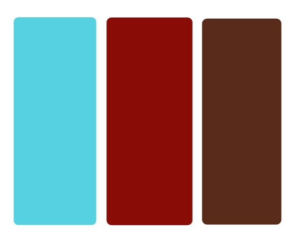 Teal, Red, Chocolate Brown. I Like These For Our Kitchen/family Room.  (already Have The Red!)