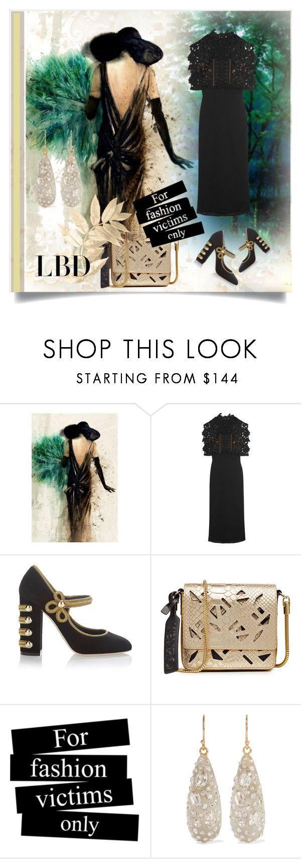 """Little Black Dress"" by kari-c ❤ liked on Polyvore featuring Leftbank Art, self-portrait, Dolce&Gabbana, Kenzo, Alexis Bittar and LBD"