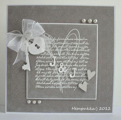 grey wedding card
