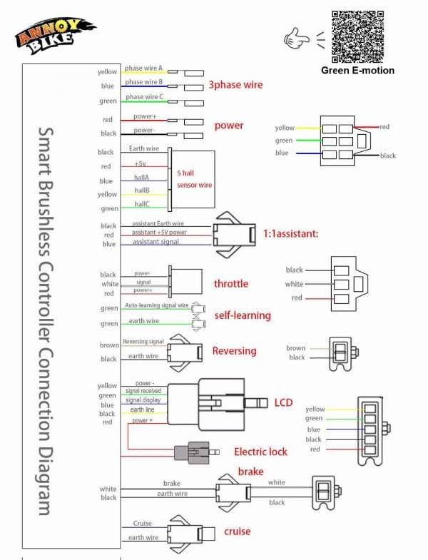 48v Electric Scooter Wiring Diagram And W V V Dc Mofset Brushless Controller Bldc Controller E Bike E Electric Scooter Electric Bicycle Motorcycle Wiring