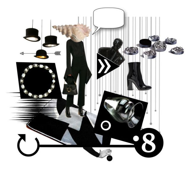 """Don't Fence Me In"" by seasidecollectibles ❤ liked on Polyvore featuring Gianvito Rossi, Loewe, modern, contemporary and vintage"
