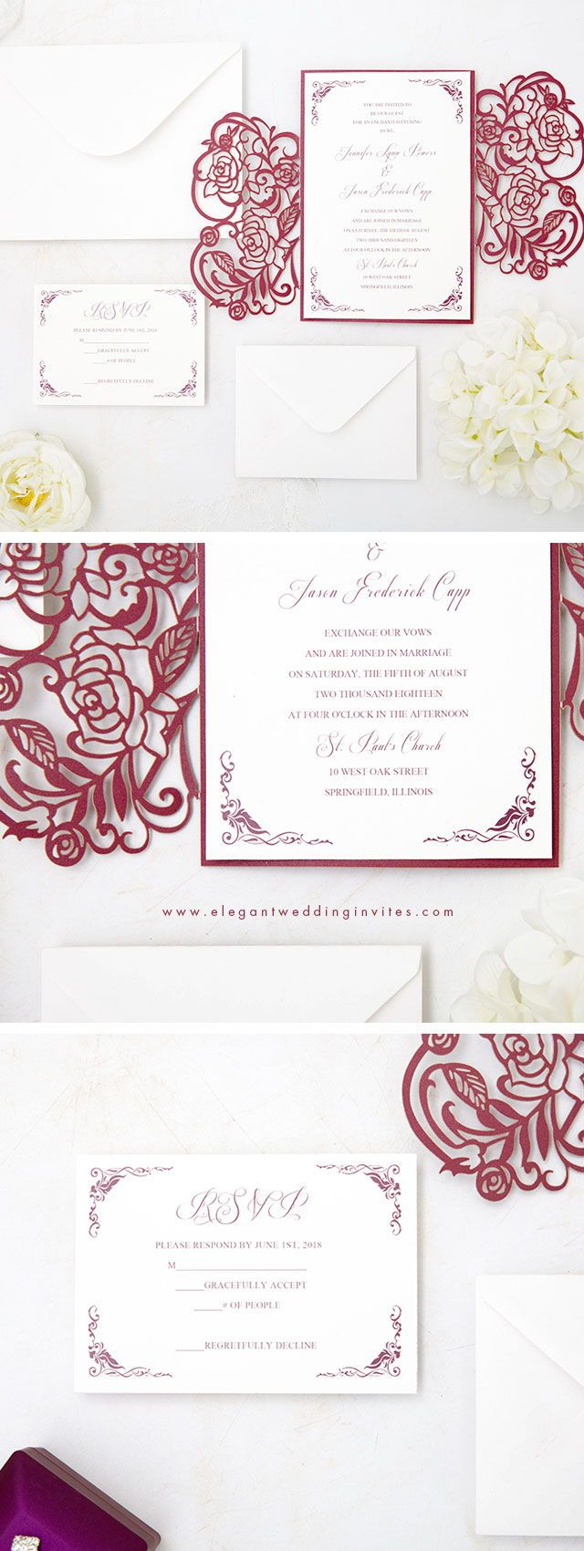 Wedding vase decorations november 2018 blooming in burgundy u unique and formal invitation with burgundy