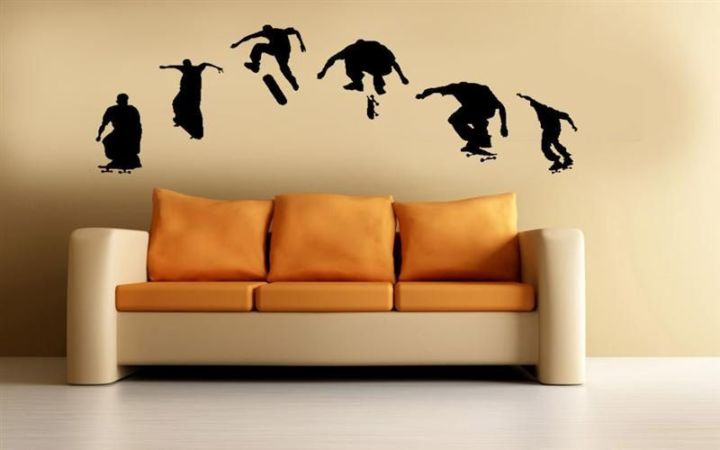 Skateboard Vinyl Wall Art Sticker Decal Skateboarding Boys Room Home ...