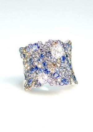 Stefan Hafner Lunar Sapphire & Diamond Ring   Oster Jewelers, Denver Colorado