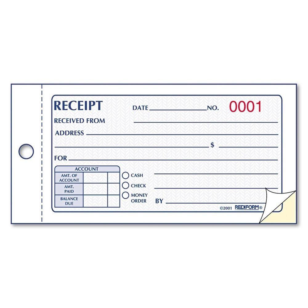Cash Book Receipts Template