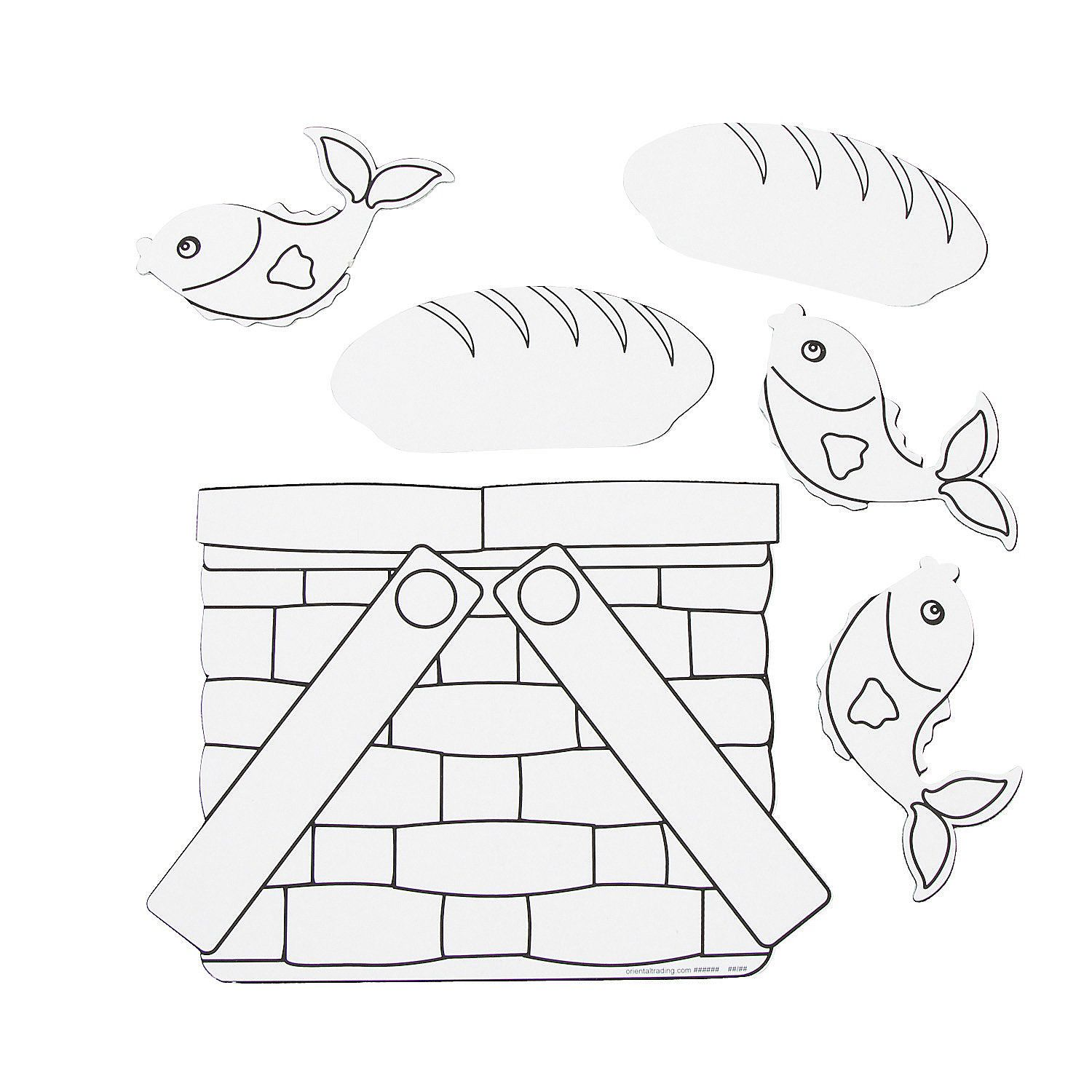 Loaves & Fishes lesson Color Your Own Loaves & Fishes