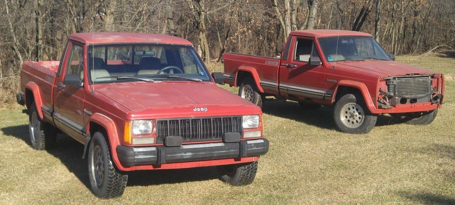 Roof Repair Forces Sale: Jeep Comanche Pair | Jeeps and Barn finds