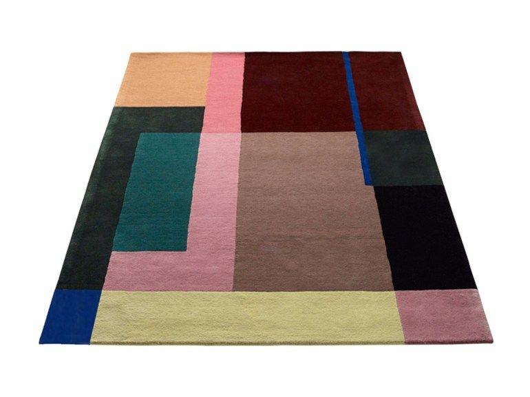 Tappeto in lana a motivi geometrici selma by massimo design berit