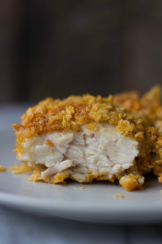 Cornflake Crusted Buttermilk Chicken Recipe Buttermilk Chicken Buttermilk Recipes Baked Fried Chicken