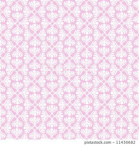 White retro seamless pattern on pink background