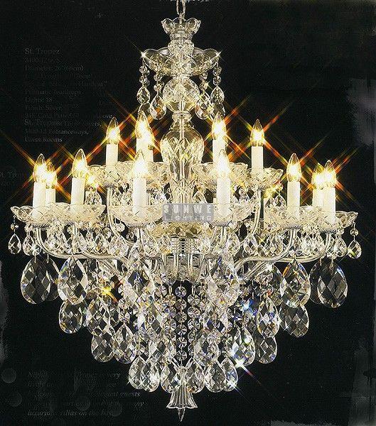 Aliexpress Com Buy Luxury Chrome Crystal Chandelier 15 Lights