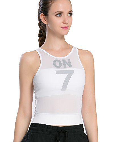 Campeak Womens Mes Workout Sports Tank Tops Built In Bra Running Sleeveless Vestwhite M Click On Th Athletic Tank Tops Compression Tank Top Sport Tank Tops