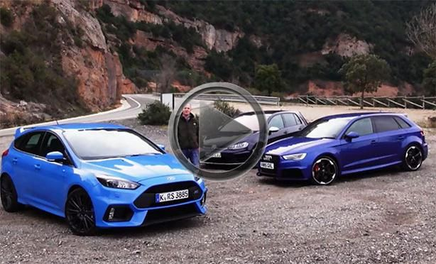2016 Ford Focus Rs Vs Audi Rs3 Vs Volkswagen Golf R Ford Focus