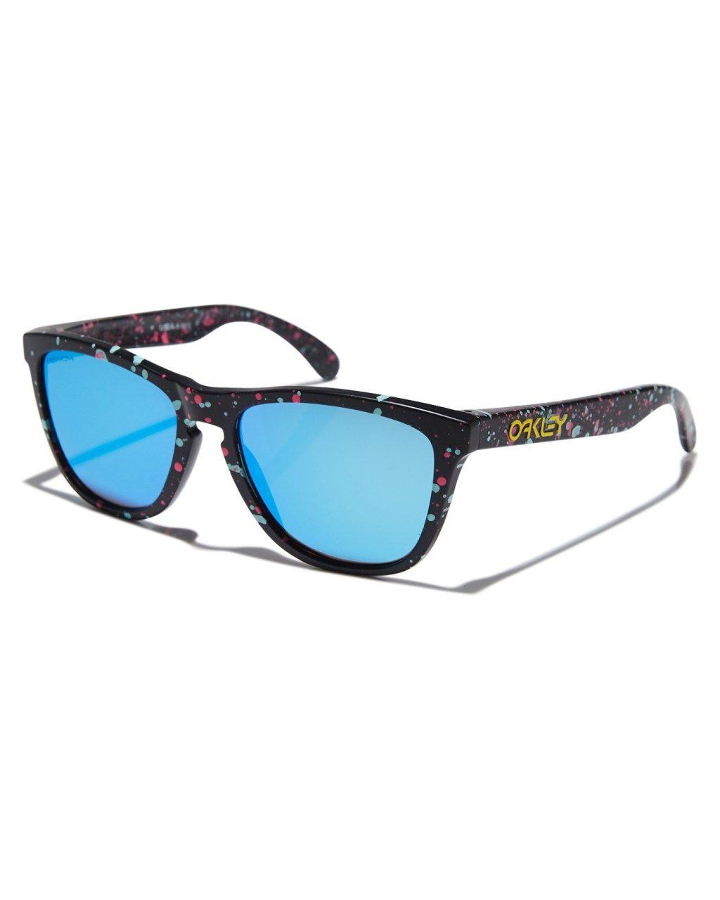 49ce20346314d Oakley Frogskins Sunglasses Splatter Black Prizm Mens sunglasses Size Oakley  Frogskins