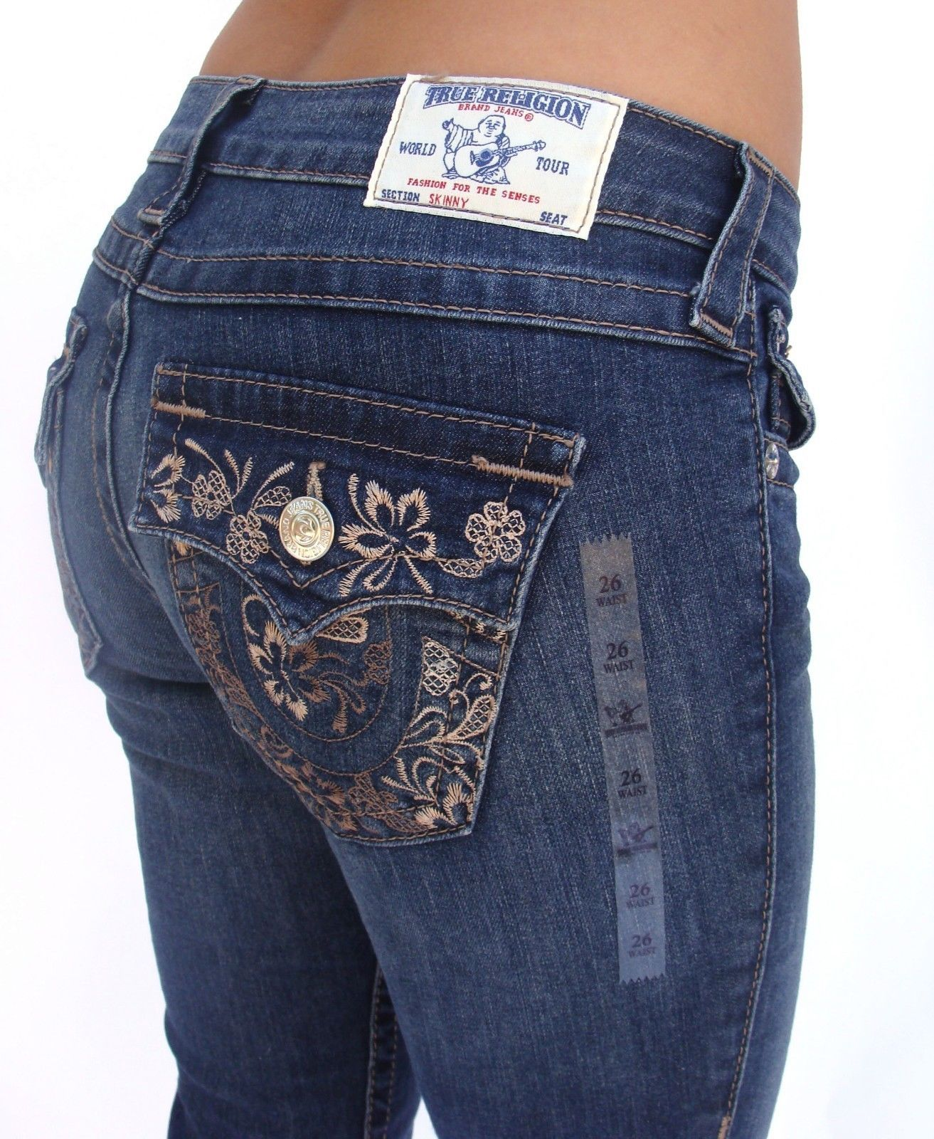 a914632c5  True  Religion  TrueReligion  Unique  Skinny  WFLPS  Brown  Flower   Buttermilk  Sky  Womens  Jeans  clothing  style  blackfriday  christmas   deals  sales ...