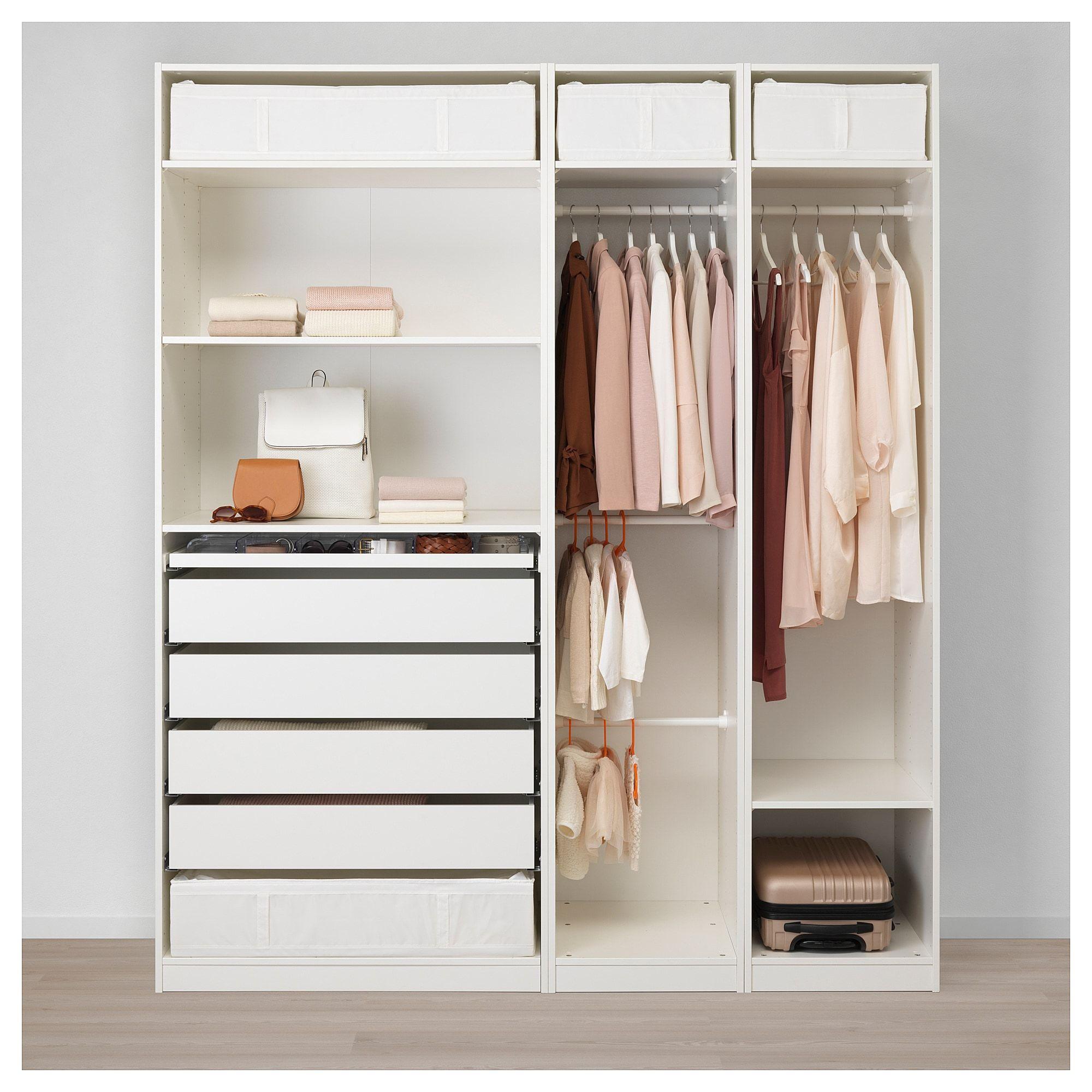 PAX Wardrobe white, Reinsvoll graygreen 78 3/4x23 5