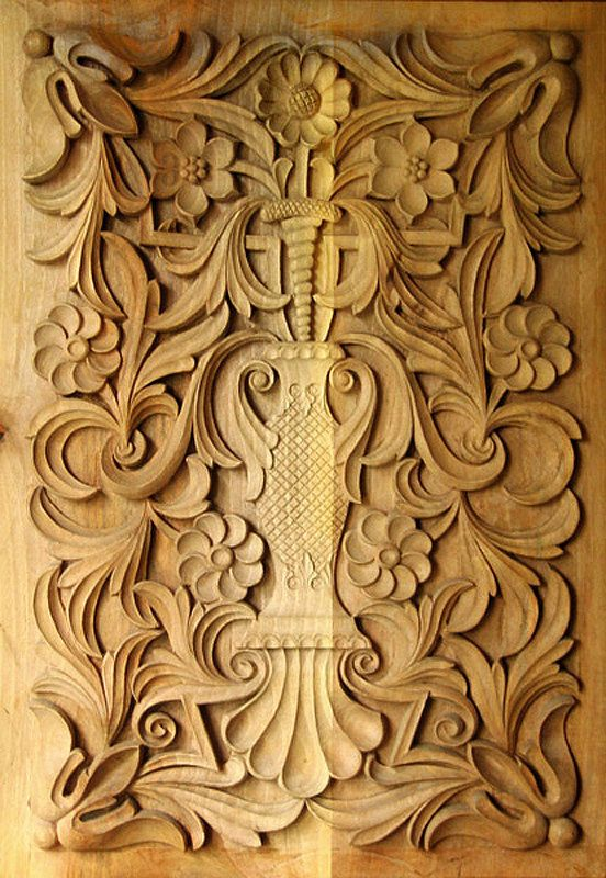 Wood carving traditional Bulgarian art Rectangular panel  IN