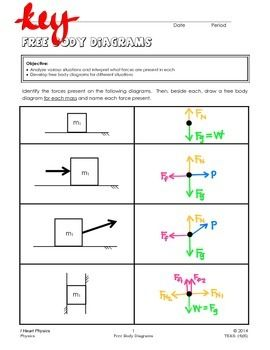 Free Body Diagrams Body Diagram Body Kindergarten Worksheets