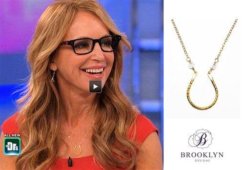 Dr. Jennifer Bergman wearing her Brooklyn Designs Rowan necklace. #BrooklynDesigns #AsSeenOn #TheDoctors